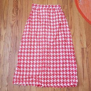 VTG Handmade Red & White Skirt